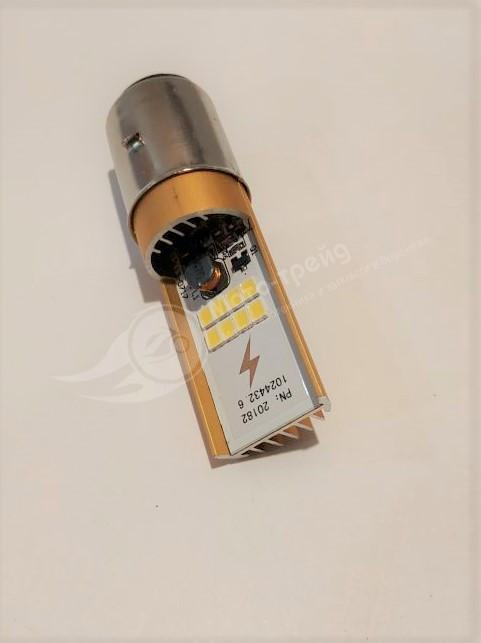 Лампа 12В фары  LED   6-12 вт  широк. (BA20D)