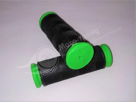 Ручки руля  90мм.  черн-цветн.  вело